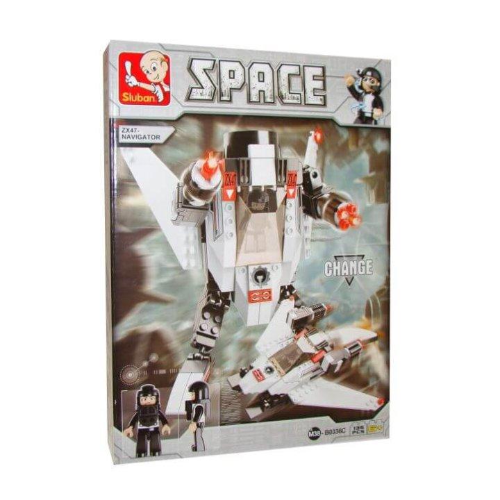 kocke robot 3 u 1 space 135 dijelne