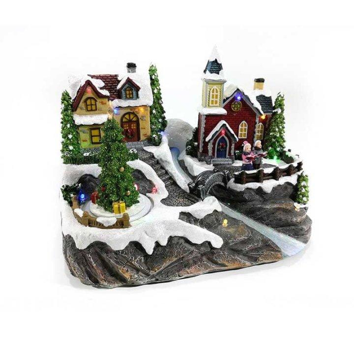 božićne dekoracije zimsko selo