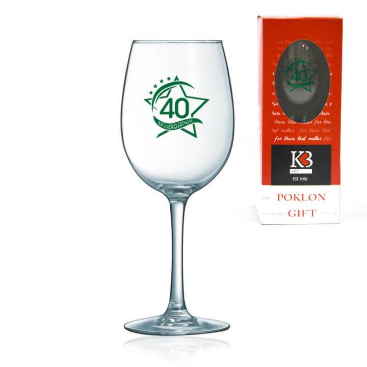 čaša za vino s tiskom 40