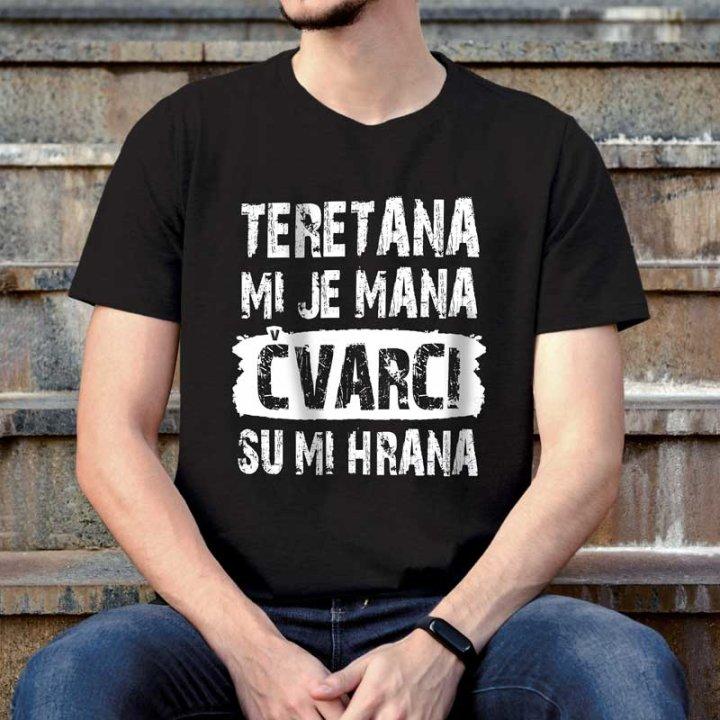 Muška majica šaljiva  Teretana mi je mana XL