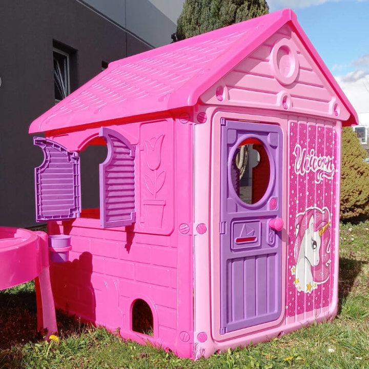 KUĆICA ZA IGRU - MY FIRST HOUSE JEDNOROG ROZA 122x100x104 CM