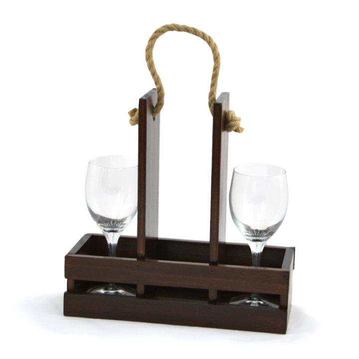 Drveni stalak za vino