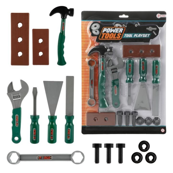 ALAT SET ZA IGRU POWER TOOLS - BLISTER 37x26 CM