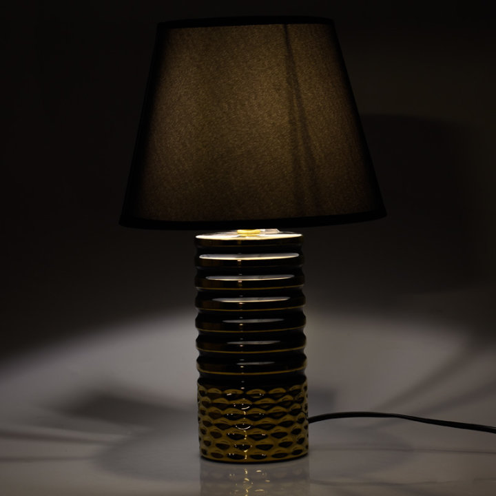 LAMPICA NOĆNA KERAMIČKA ZLATNO-CRNA 40x25 CM