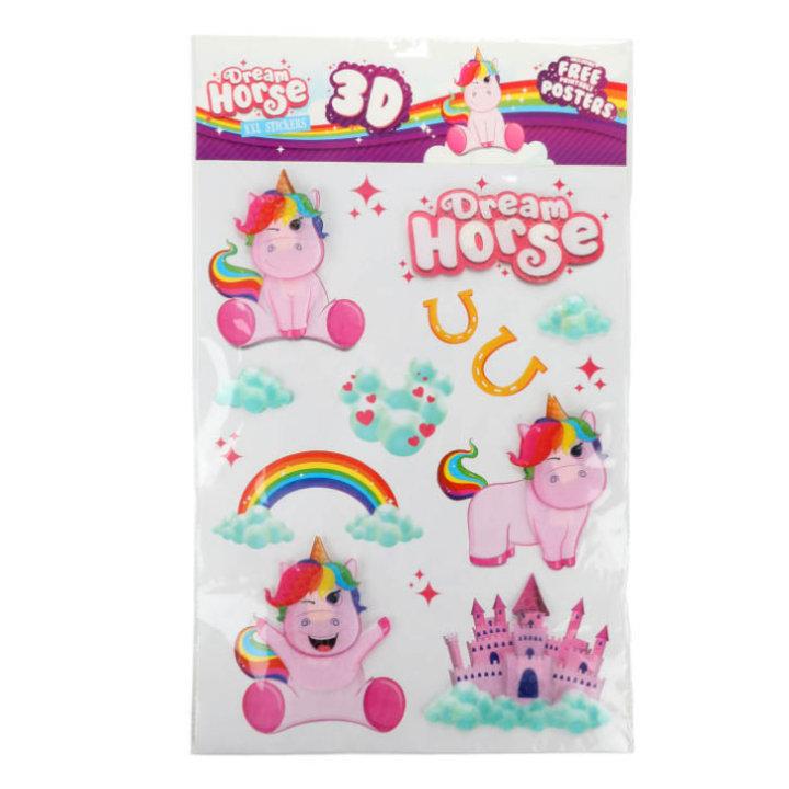 ZIDNE NALJEPNICE 3D - DREAM HORSE XXL63x37,9 CM