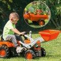 Traktor na pedale s utovarivačem i prikolicom