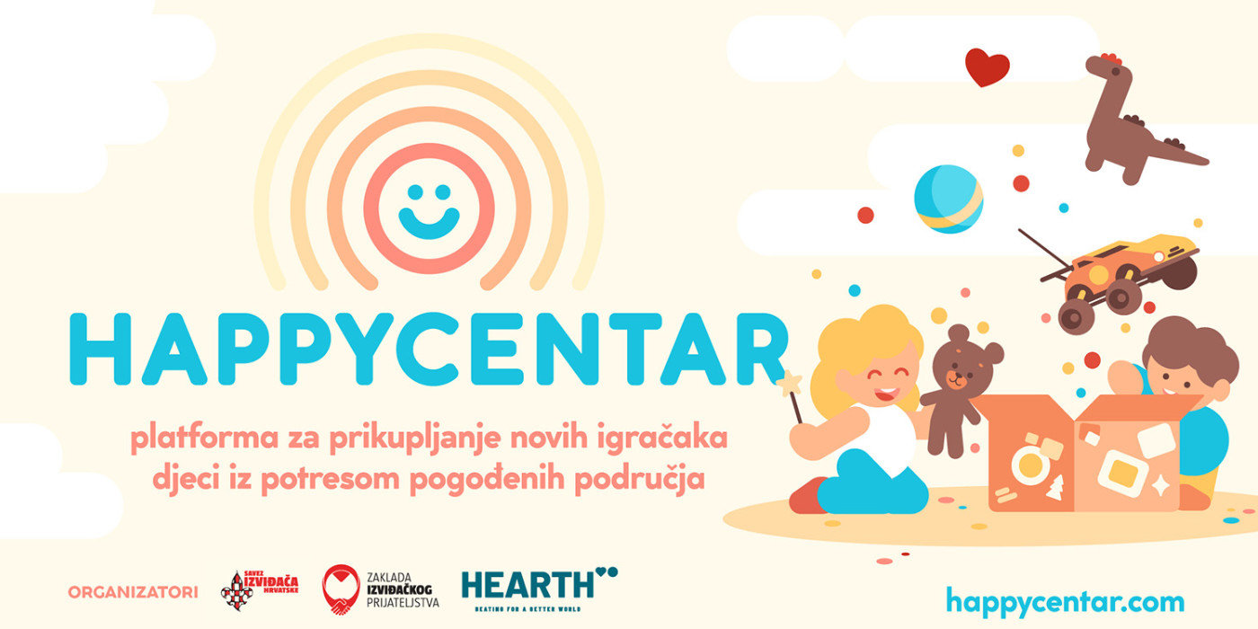 Priključi se akciji darivanja novih igračaka djeci s područja pogođenih potresom