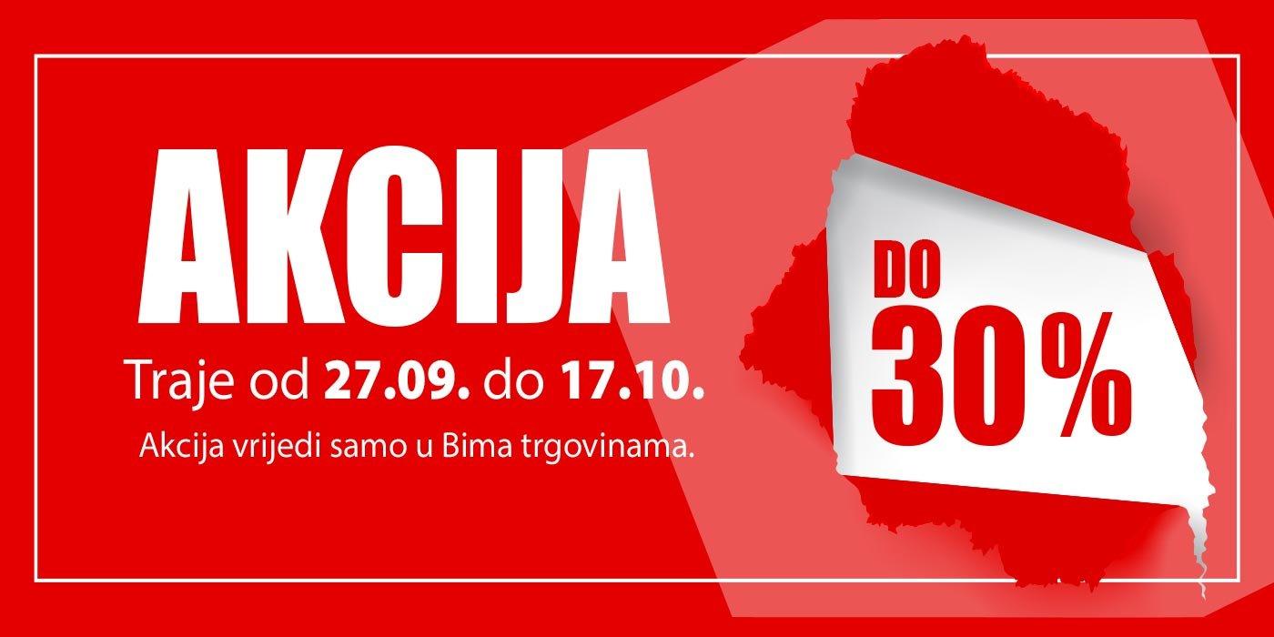 Akcija u svim Bima trgovinama od 27.09. do 17.10.